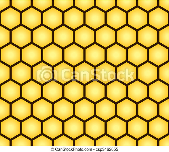 Abstract seamless pattern of honeycomb form - csp3462055