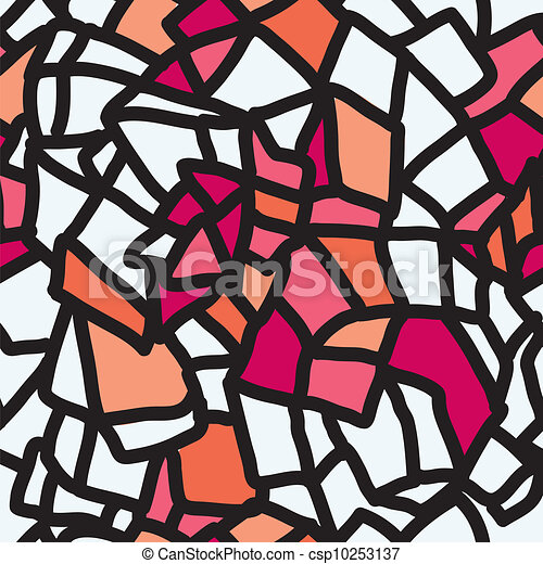 Abstract seamless pattern stained glass - csp10253137