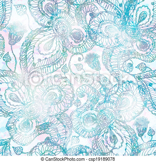 Abstract seamless pattern. Vector, EPS 10 - csp19189078