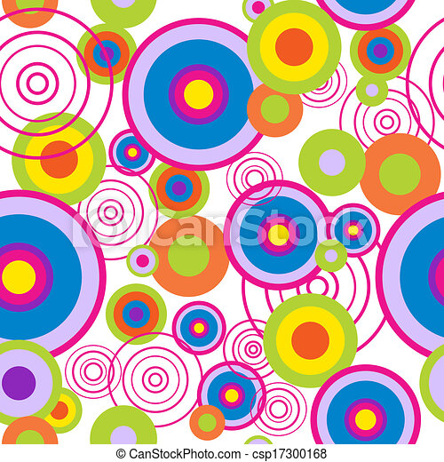 Abstract seamless pattern with concentric circles - csp17300168