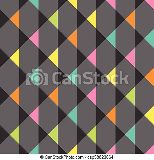 abstract seamless pattern with triangles clip art vector csp58823664