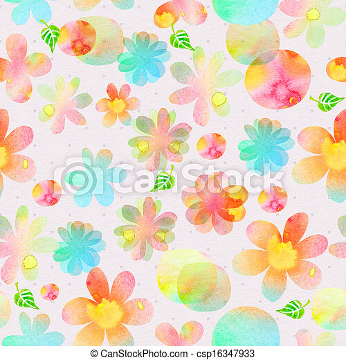 abstract seamless texture watercolor - csp16347933