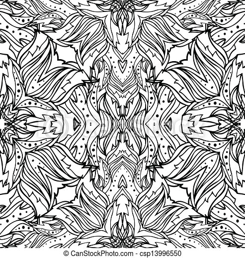 abstract seamless vector pattern - csp13996550