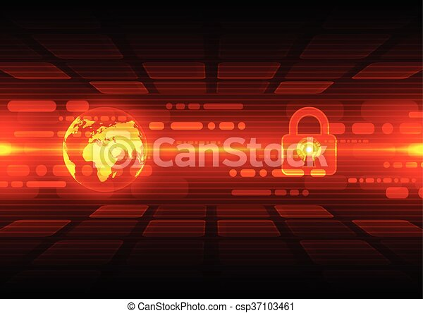 Abstract security digital technology background. Illustration Vector - csp37103461