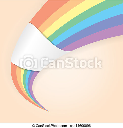 Abstract shape in the rainbow colors - csp14600096