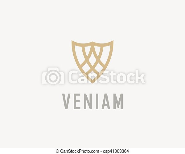 Abstract shield logo design template premium business sign abstract shield logo design template premium business sign universal protection legal law symbol security guard vector logotype friedricerecipe Choice Image