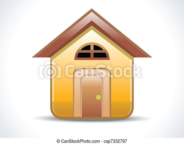 abstract shiny home icon - csp7332797