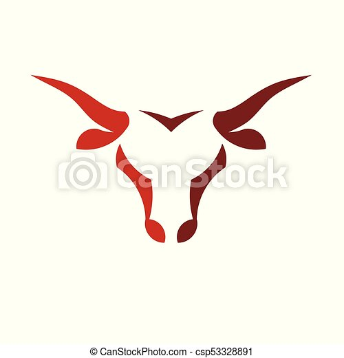 abstract simple bull head vector logo concept illustration eps rh canstockphoto com bullhead logos bull head logo outline