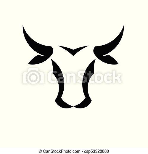 abstract simple bull head vector logo concept illustration buffalo head logo taurus head logo bull animal logo sign https www canstockphoto com abstract simple bull head vector logo 53328880 html