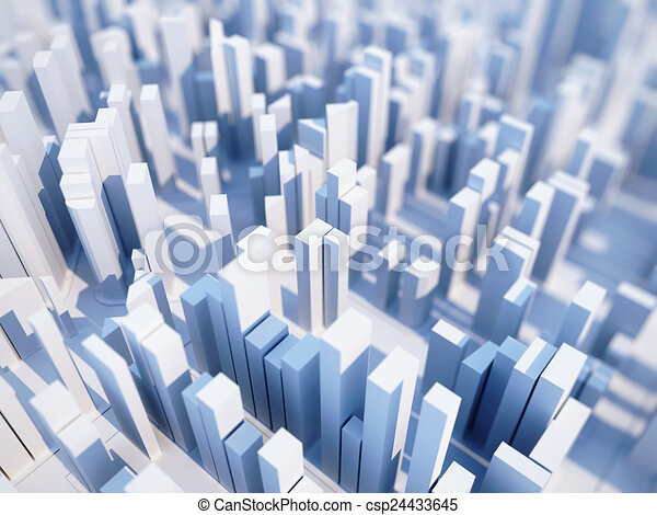 Abstract Simple City Render