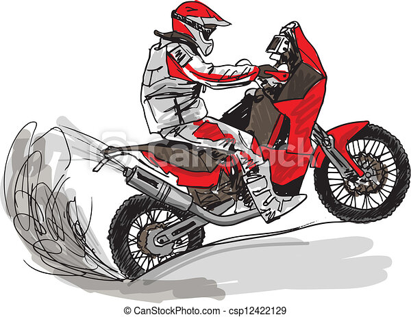 Abstract sketch of biker. Vector Illustration - csp12422129