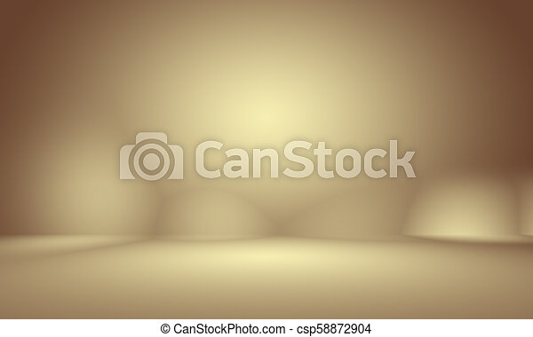 Abstract Smooth Brown wall background layout design, studio, room, web template, Business report with smooth circle gradient color - csp58872904