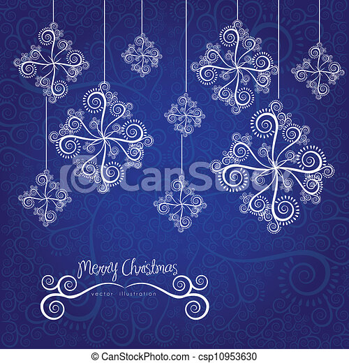 abstract snowflake - csp10953630