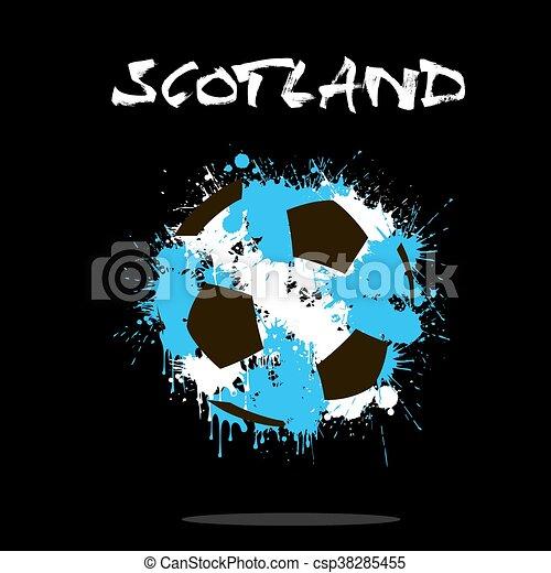 Abstract Soccer ball - csp38285455