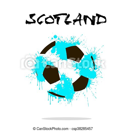 Abstract Soccer ball - csp38285457