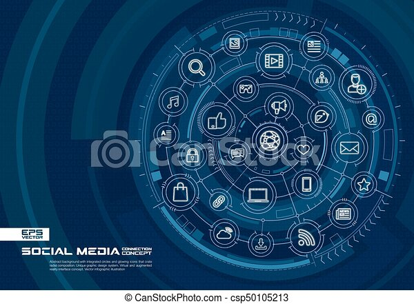 abstract social media background digital connect system with