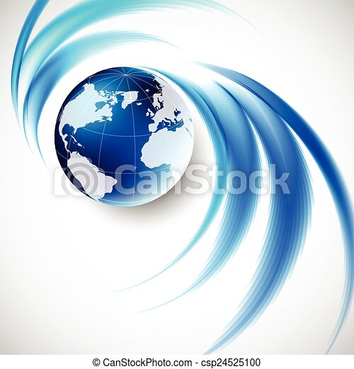 Abstract soft blue wave background - csp24525100