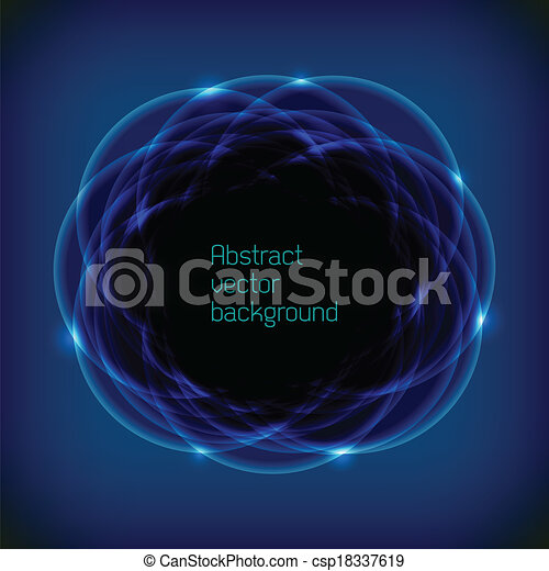 Abstract space background with blue lights - csp18337619
