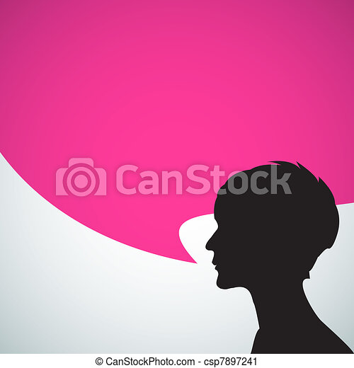 Abstract speaker silhouette - csp7897241