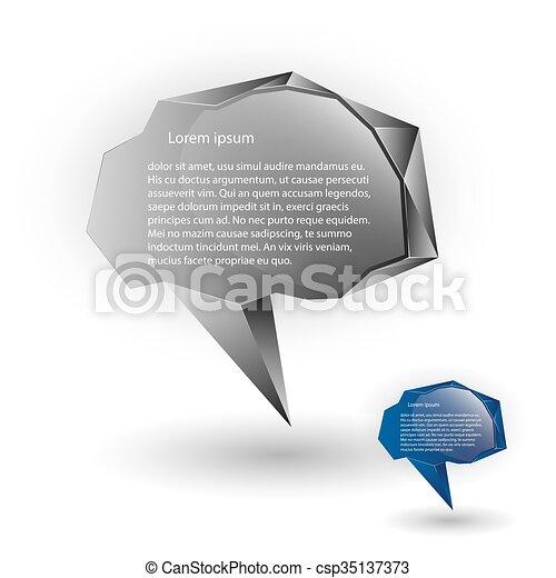 Abstract speech balloons or talk bubbles - csp35137373