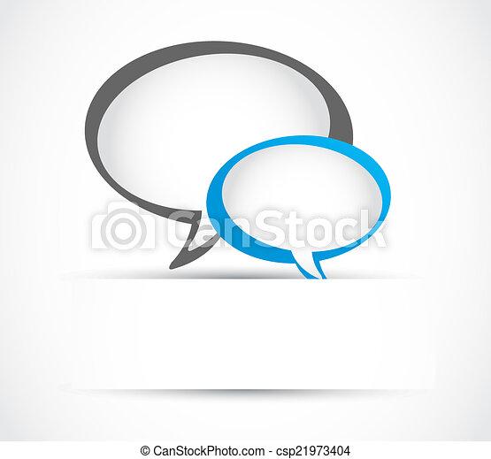abstract speech bubble - csp21973404
