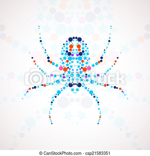 Abstract spider cartoon - csp21583351