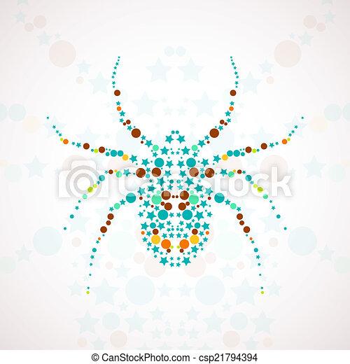Abstract spider cartoon - csp21794394
