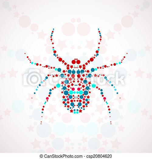 Abstract spider cartoon - csp20804620
