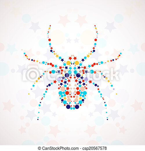 Abstract spider cartoon - csp20567578