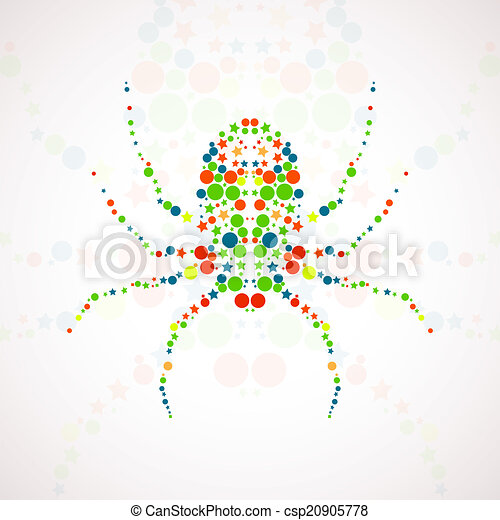 Abstract spider cartoon - csp20905778