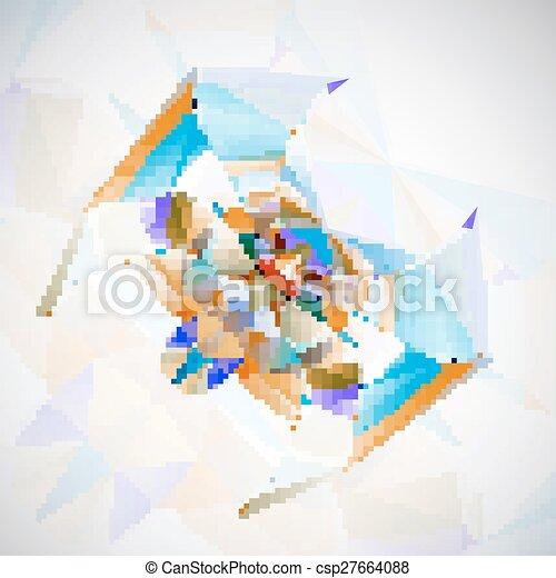 Abstract Spider illustration - csp27664088