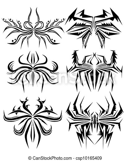 Abstract Spider Tattoo - csp10165409