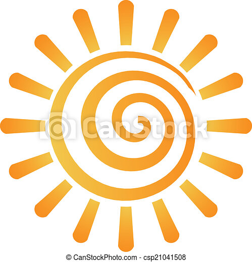 Abstract spiral sun image logo - csp21041508