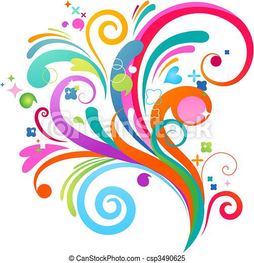 Abstract splashing pattern - csp3490625