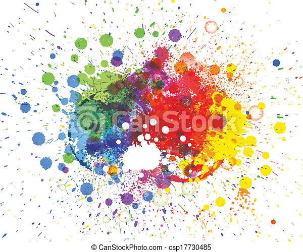 Abstract spots background with place for your text - csp17730485