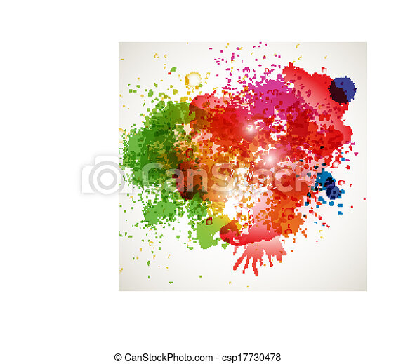 Abstract spots background with place for your text - csp17730478