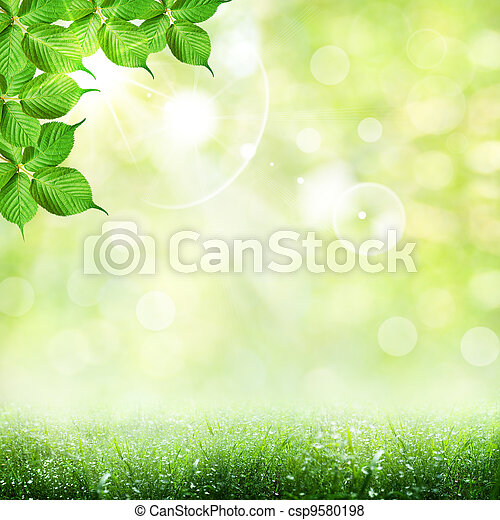 Abstract spring and summer backgrounds - csp9580198