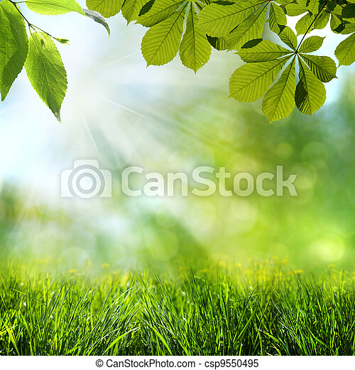 Abstract spring and summer backgrounds - csp9550495