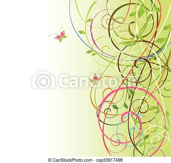 Abstract spring background - csp33917498
