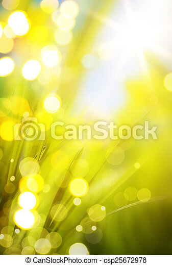 abstract spring background  - csp25672978