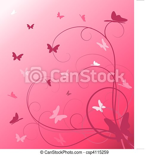 Abstract spring floral background - csp4115259