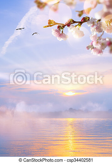 abstract spring light  background - csp34402581