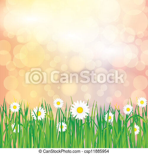 Abstract spring summer background - csp11885954