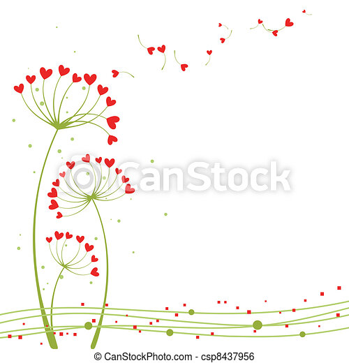 Abstract springtime love flower - csp8437956