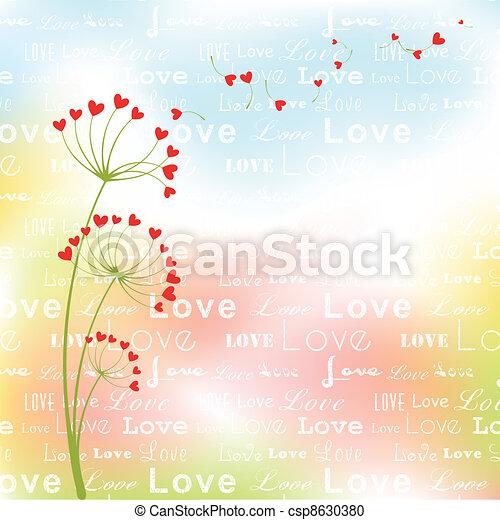 Abstract springtime love flower - csp8630380