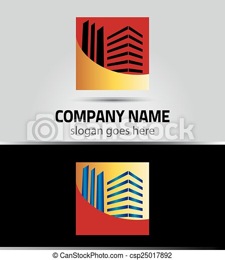 Abstract square icon real estate - csp25017892