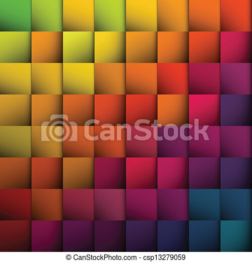 Abstract squares background. Vector, EPS10 - csp13279059