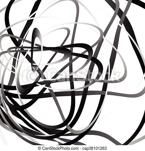 abstract squiggle squiggly curvy lines monochrome geometric pattern