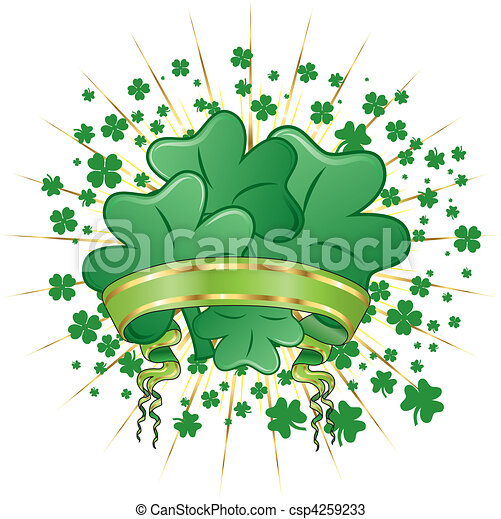 Abstract St. Patrick's Day - csp4259233