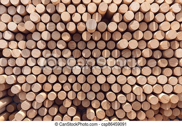Abstract stacked wood log background - csp86459091
